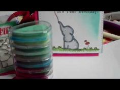 Quick Birthday Card share using Avery Elle *Elle Stamp Set - YouTube