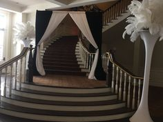 Grand entrance for this masquerade theme party