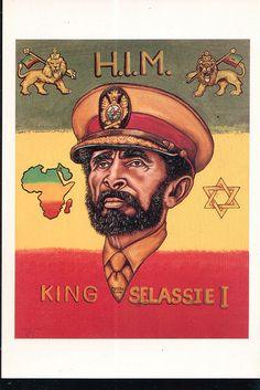 Haile Selassie I Art Rasta, Reggae Rasta, Rastafari Quotes, Rastafari Art, Haile Selassie Quotes, Bob Marley Painting, Tupac Wallpaper, Marcus Black, King Of Kings