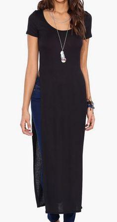 Side Slit Shirt Dress