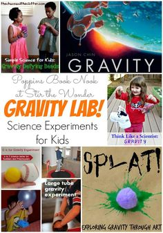 After reading Gravity by Jason Chin set up your own Gravity Lab and try some of… Science Activities For Kids, Kindergarten Science, Easy Science, Science Fair Projects, Teaching Science, Stem Activities, Science Ideas, Space Activities, Science Classroom