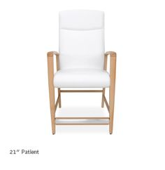 Designed for Orthopedic healing environments, the Jordan Easy Access design yields a heightened level of aesthetic beauty and exceptional sitting comfort.     With the larger footprint of this chair, and the critical importance of stability for the user, we have included adjustable glides on the front legs. This allows the Easy Access chair to be perfectly leveled to any floor for maximum safety and stability.