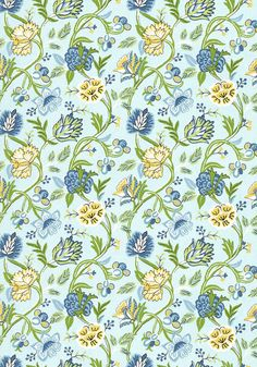 CAYMAN, Blue and Green, F94905, Collection Jubilee from Thibaut