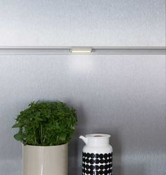 LED-Lichtprofil 60 mm, edelstahlfarbig