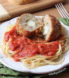 Chicken Parm Meatballs | Baked by Rachel