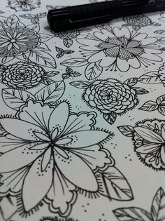 Loads of flower doodles.