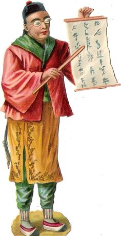 Oblaten Glanzbild scrap die cut chromo Chinese Japanese national costume Japain