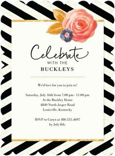 Trendy Trim - Party Invitations - Hallmark - Black | www.TinyPrints.com