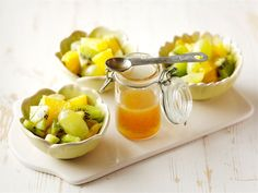 Hedelmäsalaatti ja limesiirappi Cantaloupe, Potato Salad, Deserts, Brunch, Fruit, Breakfast, Ethnic Recipes, March, Food