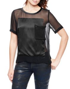 SHORT SLEEVES FASHION PANEL TOP