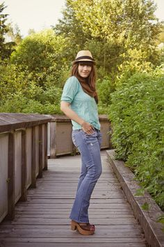 Girl and Closet: Look Book: A Wooden Bridge + Pretty Blouses [[Jean shopping is on my to do list]]