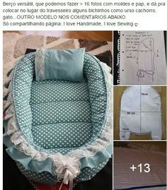 """Couffin The """"Everything Chan Baby Nest Pattern, Baby Patterns, 2 Baby, Baby Boys, Baby Sewing Projects, Sewing For Kids, Kit Bebe, Baby Pillows, Baby Crafts"""