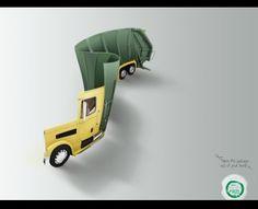 Aloe mint Dental floss: Garbage truck