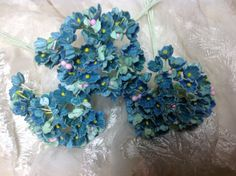 1 BOUQUET VINTAGE Millinery Flowers Forget by homesteadtreasures, $2.50