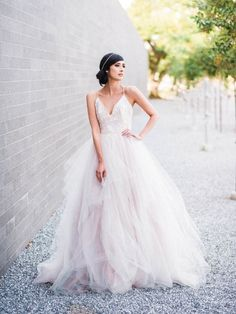 """The """"Nicoletta"""" gown by Hayley Paige / Gray Wedding Inspiration at McGovern Centennial Gardens"""