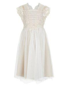 Estella Flower Crochet II Dress