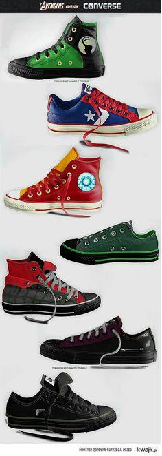 Converse shoes Avengers edition
