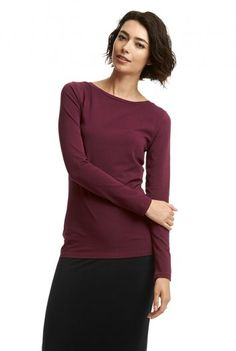 Long Sleeve Slash Neck Top (07K09) LTS 12/20/15