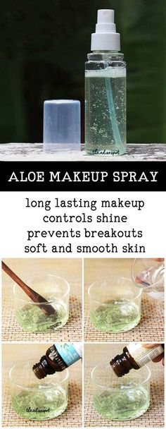 A makeup-setting spray is a fine mist designed to set makeup. While a setting spray can be a game-changer for your makeup, it can often be expensive and contain ingredients that aren't that good for your skin, such as alcohol. Here's an easy recipe to make your own natural makeup-setting spray. Aloe vera is one natural skin …