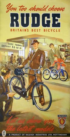 When an Englishman needs a bicycle he looks to Rudge