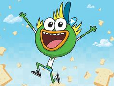 Casual pic of SwaySway. Catch the new episode of breadwinners tomorrow on nicktoons at 6 pm EST!!