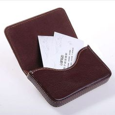 Magnetic flip #leather #business #credit card case holder brown,  View more on the LINK: http://www.zeppy.io/product/gb/2/252292533865/