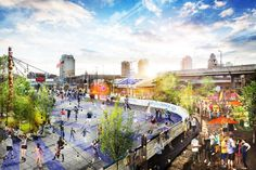 To do summer 2015: Check out the brand-new first-in-Philadelphia outdoor roller rink AND the returning Spruce Street Harbor Park.