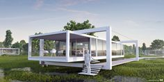 Architectural Visualization of a futuristic floating House 3d Architectural Visualization, 3d Visualization, Exterior Design, Interior And Exterior, Product Presentation, Technical Illustration, Floating House, Unique Architecture, Futuristic