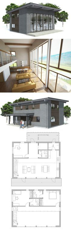 House Plan with three bedrooms. Floor Plan from ConceptHome.com
