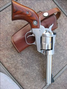 """One of my favorite guns - a 4 5/8"""" stainless Ruger Single Six."""