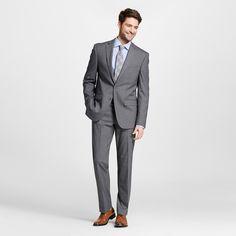 Men's Slim Fit Textured Suit Coat Grey 36R - City of London, Size: 36 Regular, Gray
