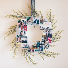 DIY Christmas Photo Wreath. by contradictionofsorts, via Flickr
