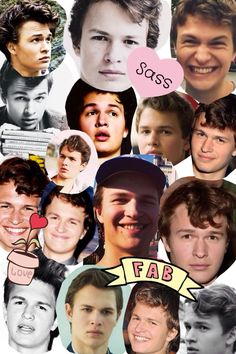 Ansel elgort collage