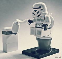"brickbattleground.com #Lego #StarWars ""I need toilet paper."""