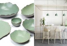 Déco vert céladon Ikea, Decoration, Beautiful Homes, Plates, Furniture, Jade, Color, Branding, Design