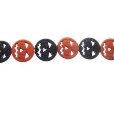 15mm Howlite Jack-O-Lantern Gemstone Bead Strand