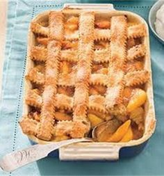 Recipe for Pecan-Peach Cobbler - Showcase two of the South's most beloved products—peaches and pecans—in this old-fashioned peach cobbler recipe.
