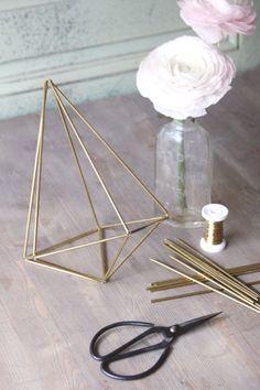 Geometrische Wohndeko: DIY Himmeli selber machen