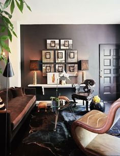 masculine eclectic living room.