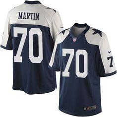 202b42b30b2 Nike Dallas Cowboys Youth #70 Zack Martin Limited Navy Blue Alternate  Throwback NFL Jersey Nfl