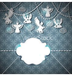 Christmas card with paper angels vector 1169336 - by Elmiko on VectorStock®