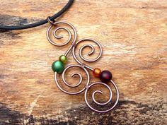 Ketten kurz - Halskette ♥ Aotearoa ♥ aus Kupferdraht - ein Designerstück von arohanui bei DaWanda