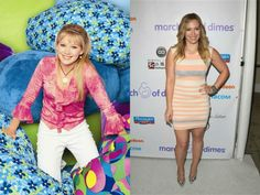 """Child stars then & now: Hilary Duff of the Disney Channel television show """"Lizzie McGuire"""" (2001-2004, left). Duff guest starred on """"Gossip Girl"""" in 2009 and """"Raising Hope"""" in 2013, but has most recently been more focused on her personal life since marrying Canadian hockey player Mike Comrie in 2010 and giving birth to their son, Luca, in 2012."""