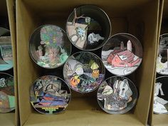 Mini Matisse: 8th Grade - foreground middleground background cans