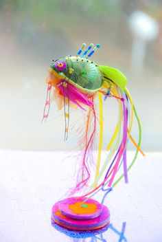 Fantasy | Whimsical | Strange | Mythical | Creative | Creatures | Dolls | Sculptures | Little Koi Fish sculpture
