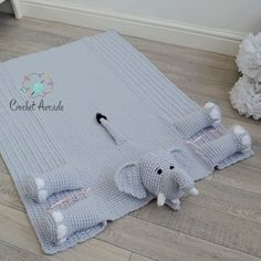 Cuddle and Play Elephant Baby Blanket Crochet Pattern Crochet Elephant Pattern, Crochet Cow, Slip Stitch Crochet, Crochet Motifs, Manta Crochet, Crochet Blanket Patterns, Baby Blanket Crochet, Elephant Baby Blanket, Baby Blankets
