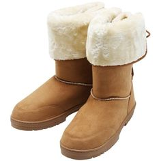 M&Co Ladies Cosy Comfortable Faux Fur Lace Up Back Fluffy Fleece Lined... (57 CAD) ❤ liked on Polyvore featuring shoes, boots, tan, tan shoes, faux fur lace up boots, winter boots, tan boots and fake fur boots