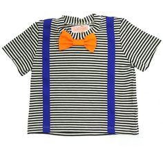 Bang Striped Suspender Tee