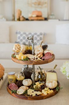 Two-Tiered Harvest Cheese Board Christmas Lunch, Holiday Dinner, Fashionable Hostess, Fall Soup Recipes, Christmas Wonderland, Cheese Boards, Wine Cheese, Wine Parties, Dried Cranberries