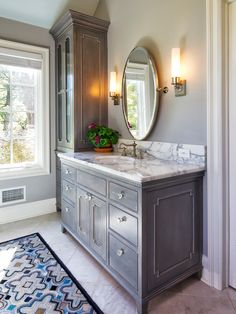I am pinning this simply b/c I like the color of that cabinet!     Bathroom Design, Pictures, Remodel, Decor and Ideas - page 4